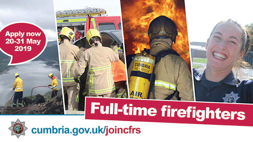 Don't miss your chance to become a full-time firefighter in Cumbria